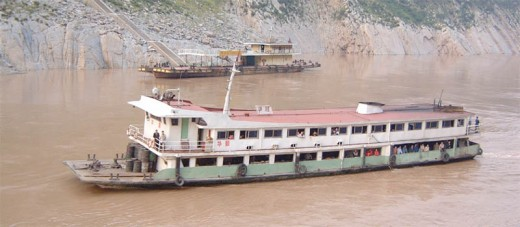 Local river transport on the Yangtze River.