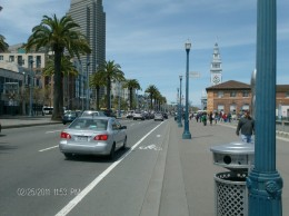 From the Ferry building looking down Embarcadero toward Pier 39
