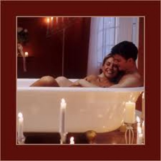 Intimate bath for you or both of you. Sometimes unwinding before working to do the same for him is what is needed.
