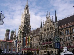 Marienplatz (Munich City Centre) - the S and U in the foreground denote Surface and Underground train stations