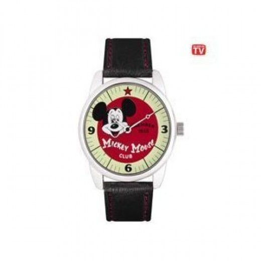 """Disney """"Mickey Mouse Club"""" Collectible Watch, MU2332, Special Packaging, Leather Strap"""