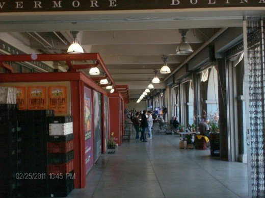 Inside the historic Ferry Building. You can still take Ferry boats to Alameda and Vallejo from this pier