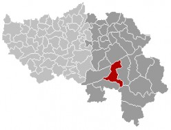 Map location of Stavelot municipality