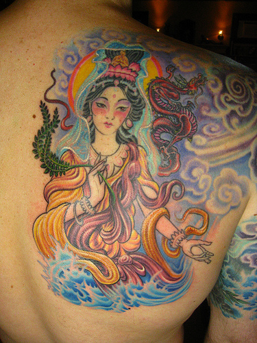 Chinese tattoo Guan Yin