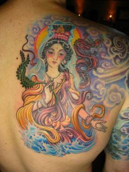 Chinese tattoo Guan Yin