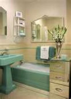 Retro Green Bath