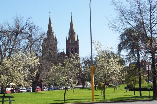 St Peters Cathedral.One example of many beautiful stone churches and buildings in Adelaide.