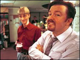 David Brent thinks he is the world's greatest in the world, is he?