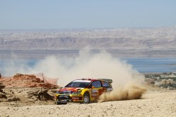 Car racing the Dead Sea