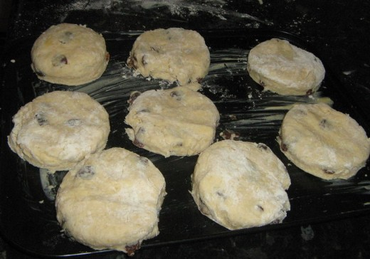 How to make scones: These are ready for the oven