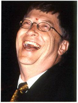 Bill Gates having a fun time.
