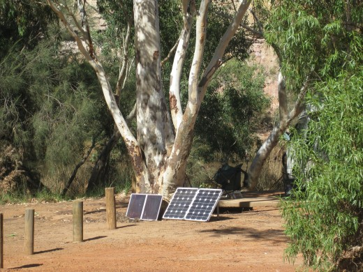 Free Camping with portable solar panels