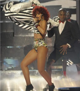 Rihanna performing her naughty routine at the X-Factor in 2010