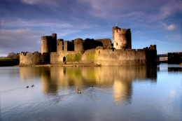 Caerphilly Castle, South Wales