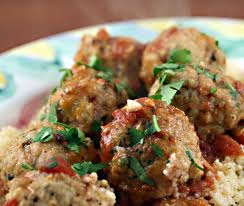 meatball cooked with garlic