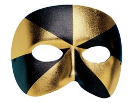 Mens Gold and black Eyemask