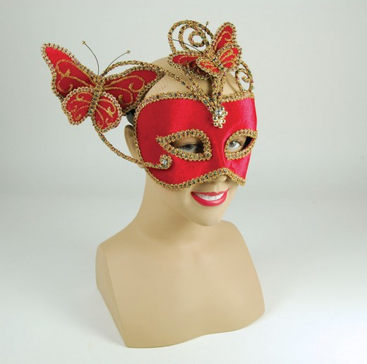Red Butterfly Eyemask