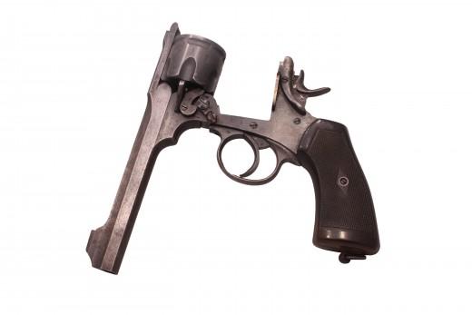 Webley Revolver Opened