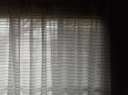 The decision to keep the blinds came from living on a corner next door to an elementary school