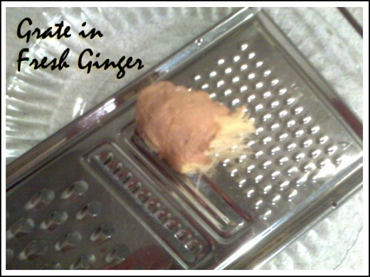 Grated ginger adds that favorite 'zing' to any dish