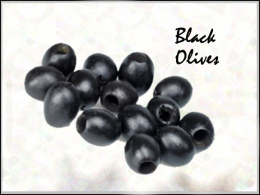 Black olives for color accent