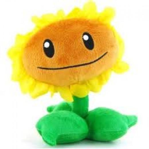 Sun flower plush toy
