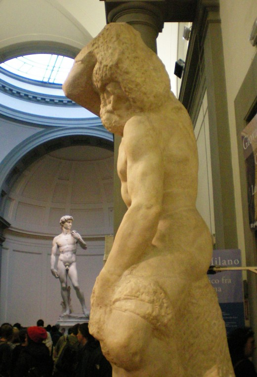 David and The Slave; classic works of Michelangelo (c) Anne Harrison