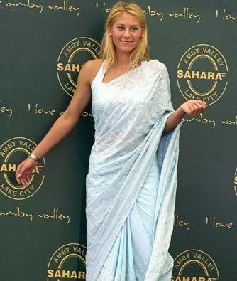 Anna Kournikova in a sari