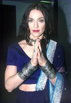 Madonna in a sari