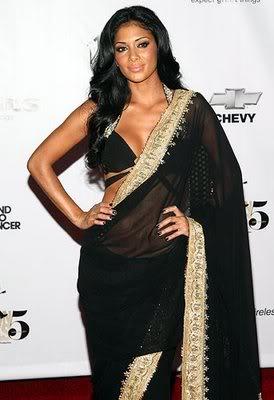Nicole Scherzinger in a sari