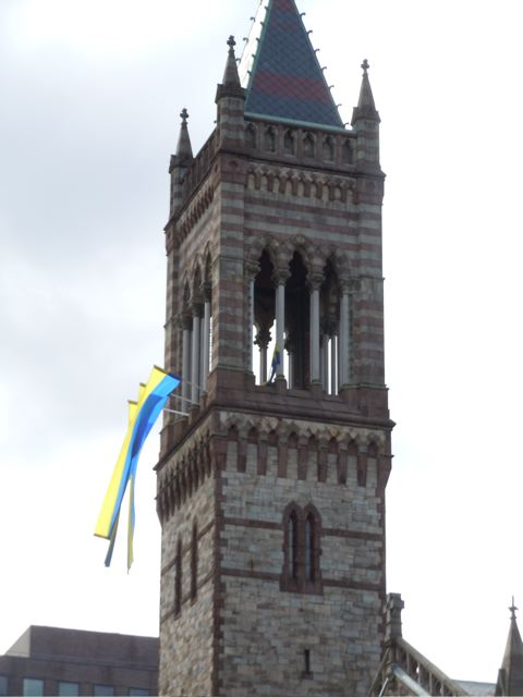 Boston decks out in blue and yellow for the annual Boston Marathon