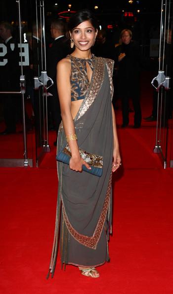 Freido Pinto in sari, the actress of slumdog millionaire
