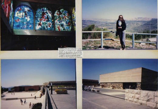 Travel to the Kennedy Memorial situated in a forest on the western slopes of Jerusalem, to Hadassah Medical Center to view Chagalls famous stained glass windows in the hospital synagoque. Yad Vashem, memorial, 6M.Jews perished in the Hollocaust.