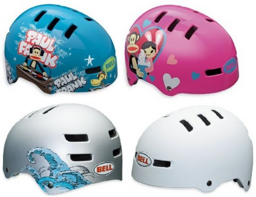 These Bell Bike and Skate Helmets for kids come in 13 awesome patterns and 4 sizes; x-small, small, medium, and large.