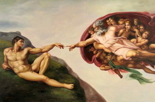 Creation by Michaelangelo on the ceiling of the Sistine Chapel