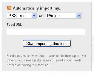 RSS feed importer