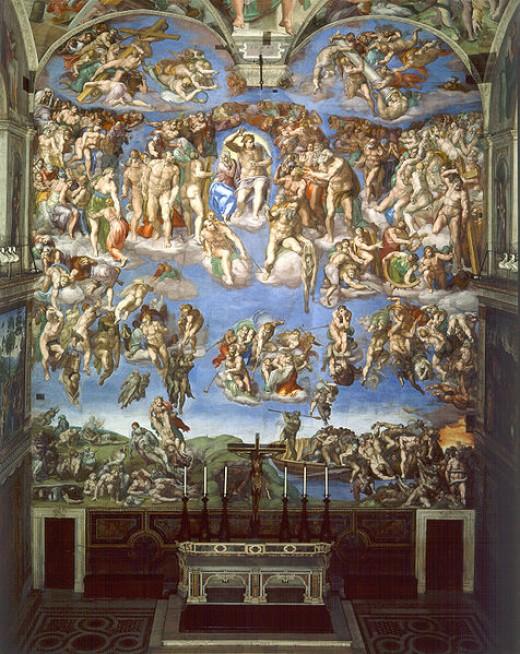 """The Last Judgement"" by Michelangelo"