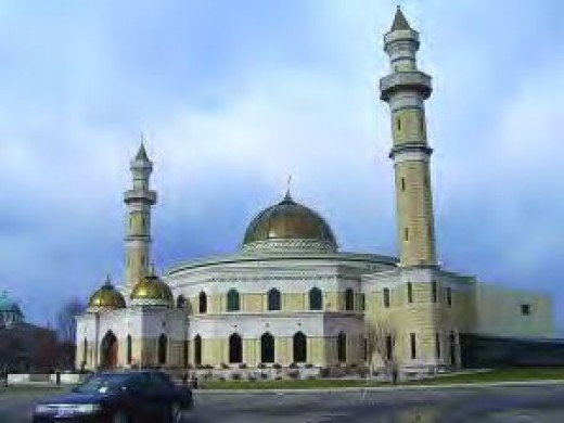 Enormous Mosque in Dearborn.