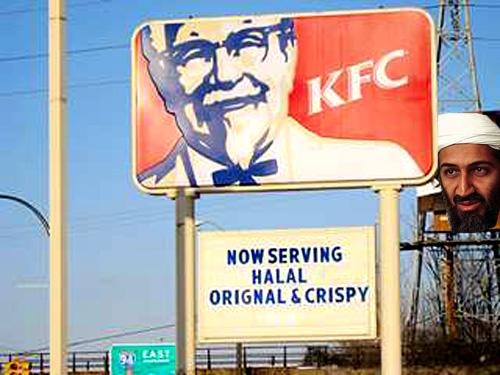 Properly slaughtered crispy chicken.