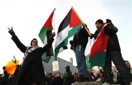 Muslims demonstrate against Israel in Dearborn, waiving their own flag.