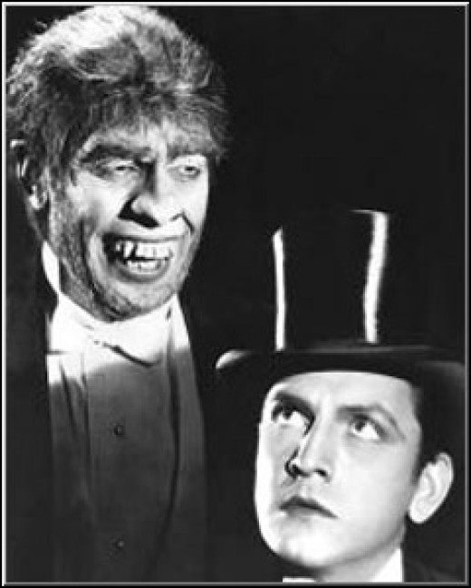 "Jekyll and Hyde.... too scary! http://www.youtube.com/watch?v=vEfOfA7UYOs Colm Wilkinson sings ""This is the Moment"""