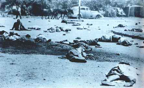 Aftermath of the Sharpeville Massacre, 21 March 1960. Image from Wikipedia