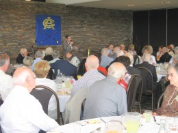 Here's another with me as after dinner speaker.   This one's a dinner meeting at a golf club.
