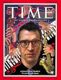 Dave Brubeck, featured on Time Magazine, The Man on Cloud 7 - November 8, 1954
