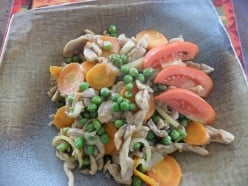 Easy Chicken Stir Fry With Carrots and Peas