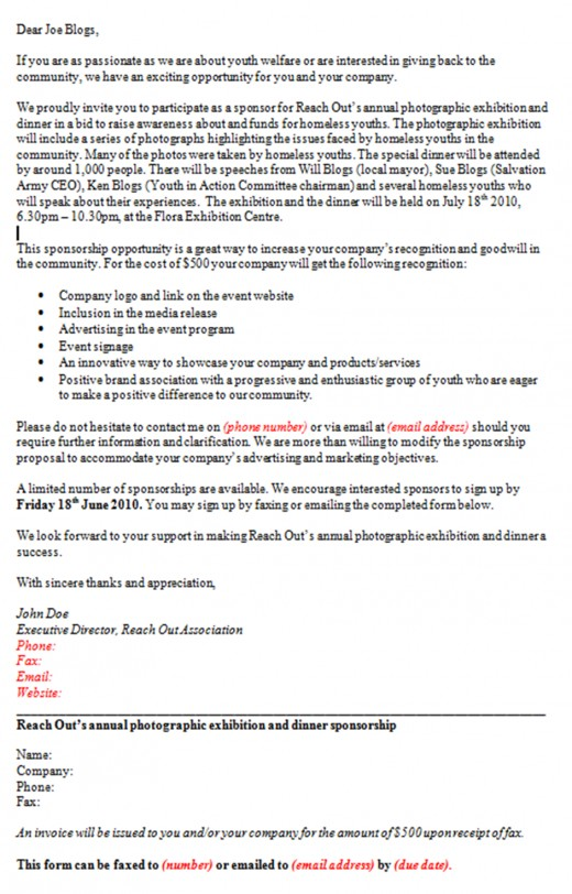 How To Write A Sponsorship Proposal Letter Template Sponsor – How to Write an Event Proposal
