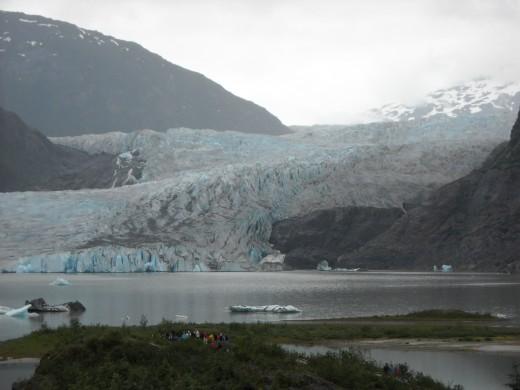 In Juneau-Mendenhall Glacier