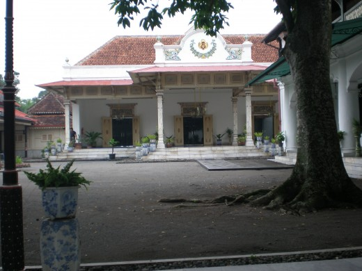 One side  inside Keraton Yogjakarta area.