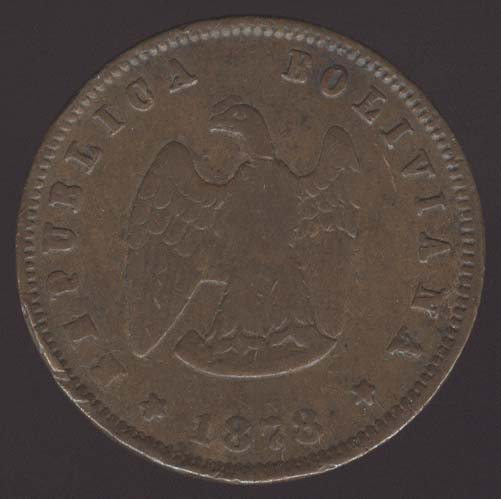 1878 coin from Bolivia. Picture Ebay.com