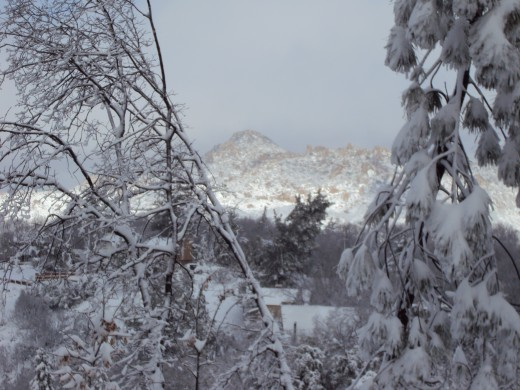 A view of The Pinnacle after the snow storm.